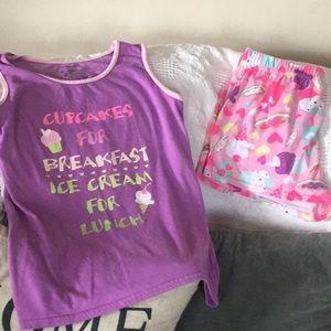 Girls XL 14/16 Sleep set  pajamas